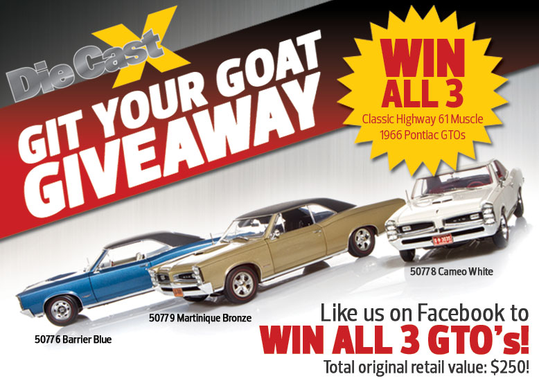 "Check out Die Cast X's ""Git Your Goat"" Giveaway!"
