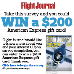 Flight Journal Survey – YOU COULD WIN $200!