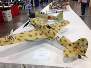 The master of RC scale aircraft Dave Platt has his Macchi 202 Folgore on display. 1/5 scale OS Max 108 glow power.