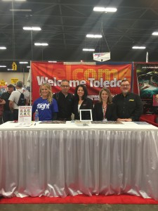 A shot of the booth has  Model Airplane News' Editor's Debra Cleghorn‎ and Gerry Yarrish‎, alongside Yvonne DeFrancesco, Mitch Bryan, and Julia Johnston.