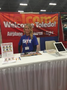 The lovely Julia Johnston, former Miss Toledo was at the Air Age Booth all weekend!