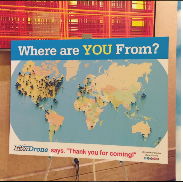 InterDrone represented over 150 countries!