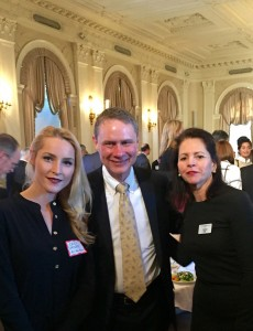 Yvonne DeFrancesco and Erica Driver pictured with Wes Bush, Chairman, Chief Executive Officer and President, Northrop Grumman Corporation.