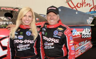 Courtney and John Force at RCX