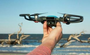 RotorDrone was live at the DJI Unveiling of the Spark