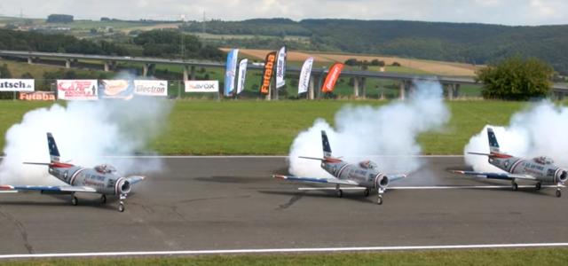 Triple Giant RC Sabre Jet Action